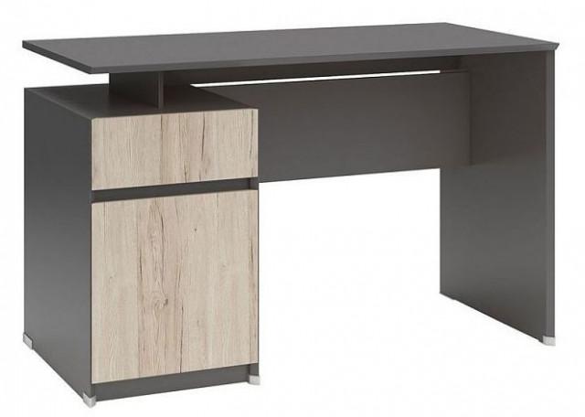 Psací stůl B04 BIU1D1S/120 Šedý wolfram - dub san remo světlý