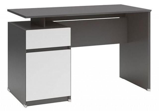 Psací stůl B04 BIU1D1S/120 Šedý wolfram - bílý mat