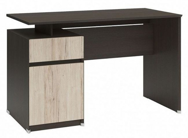 Psací stůl B04 BIU1D1S/120 Wenge - dub san remo světlý