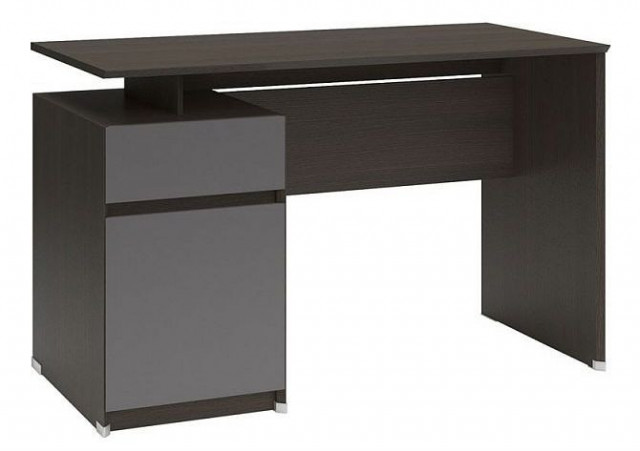 Psací stůl B04 BIU1D1S/120 Wenge - šedý wolfram