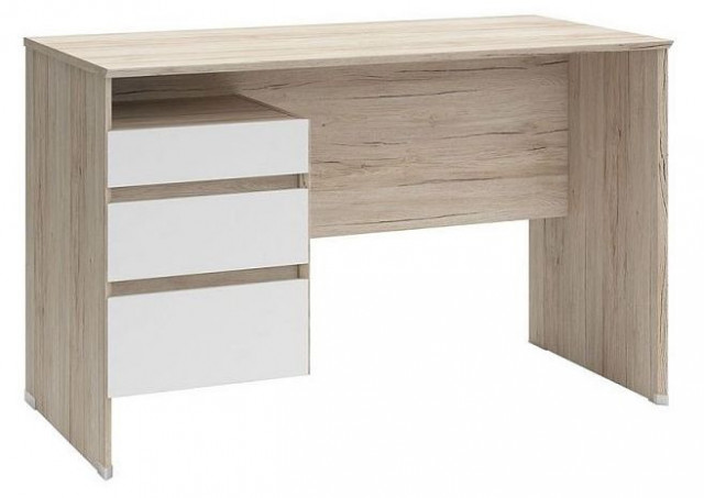 Psací stůl B04 BIU3S/120 Dub san remo světlý - bílá