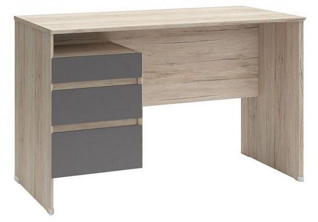 Psací stůl B04 BIU3S/120 Dub san remo světlý - šedý wolfram