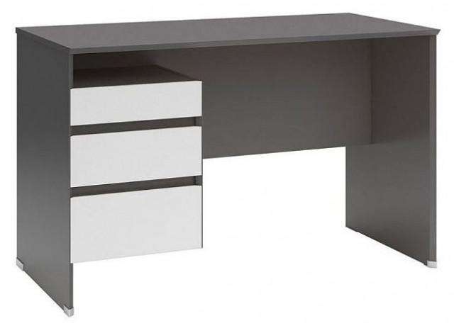 Psací stůl B04 BIU3S/120 Šedý wolfram - bílá