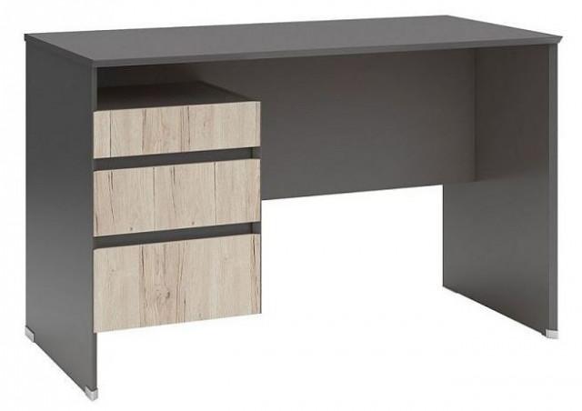 Psací stůl B04 BIU3S/120 Šedý wolfram - dub san remo světlý