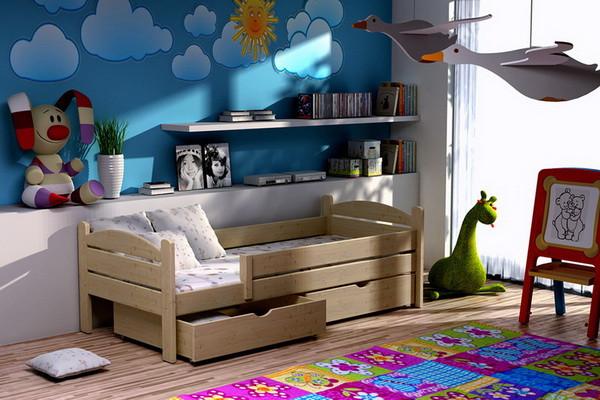 Vomaks Dětská postel DP 005 + zásuvky 180 cm x 80 cm Barva bílá