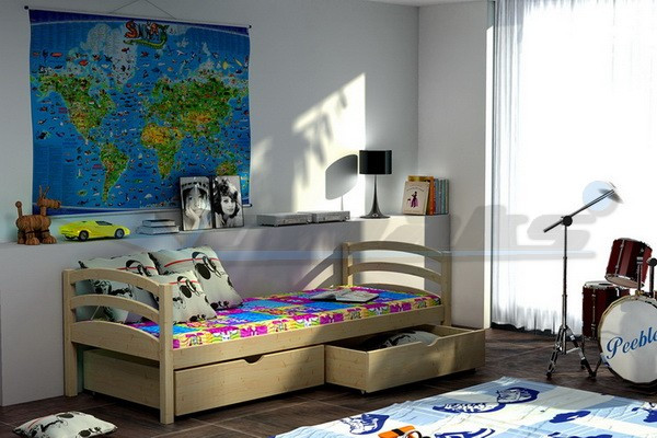 Vomaks Dětská postel DP 006 180 cm x 80 cm Barva bílá