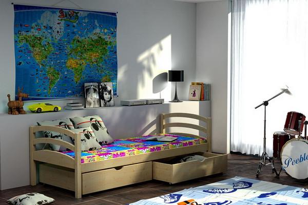 Vomaks Dětská postel DP 006 + zásuvky 180 cm x 80 cm Barva bílá
