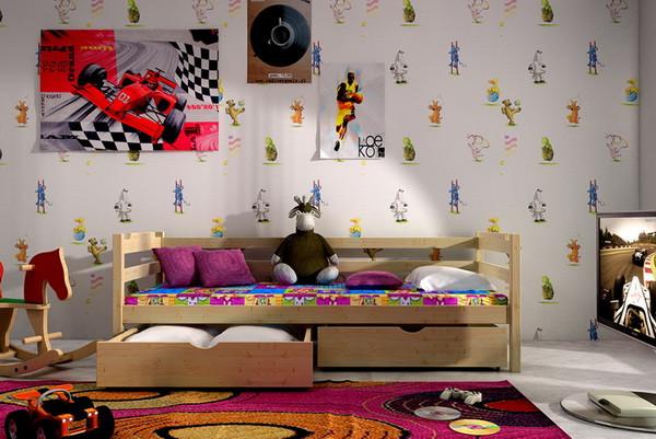 Vomaks Dětská postel DP 007 + zásuvky 180 cm x 80 cm Barva bílá