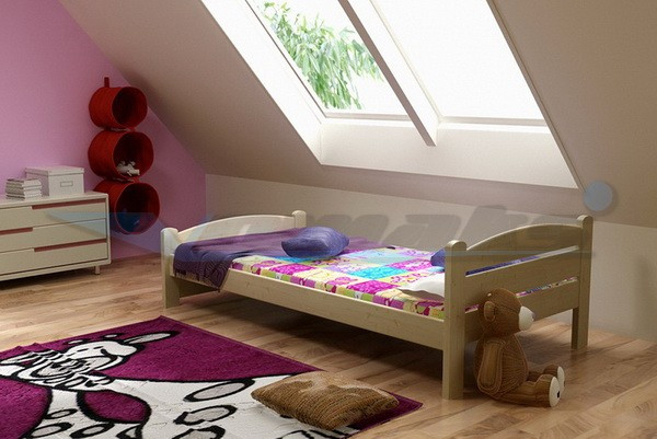 Vomaks Dětská postel DP 008 180 cm x 80 cm Barva bílá
