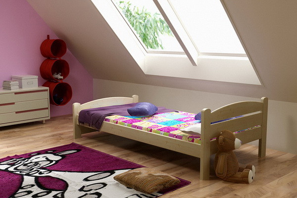 Vomaks Dětská postel DP 008 + zásuvky 180 cm x 80 cm Barva bílá