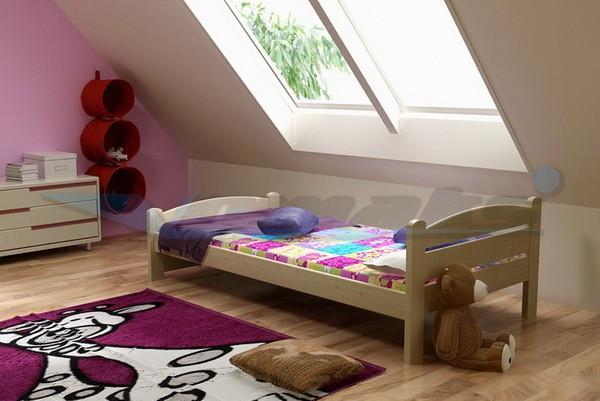 Vomaks Dětská postel DP 008 KOMPLET 180 cm x 80 cm Barva bílá