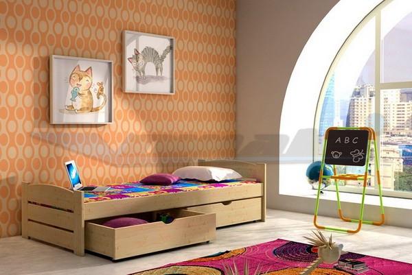 Vomaks Dětská postel DP 009 180 cm x 80 cm Barva bílá