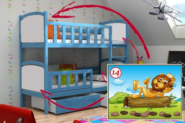 Patrová postel PP 010 - 14 Lev