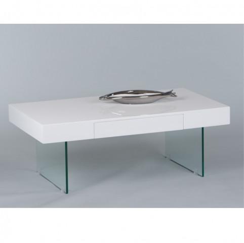 Konferenční stolek DAISY - bílá / extra vysoký lesk HG