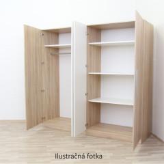 Skříň MATISA - švestka/černá