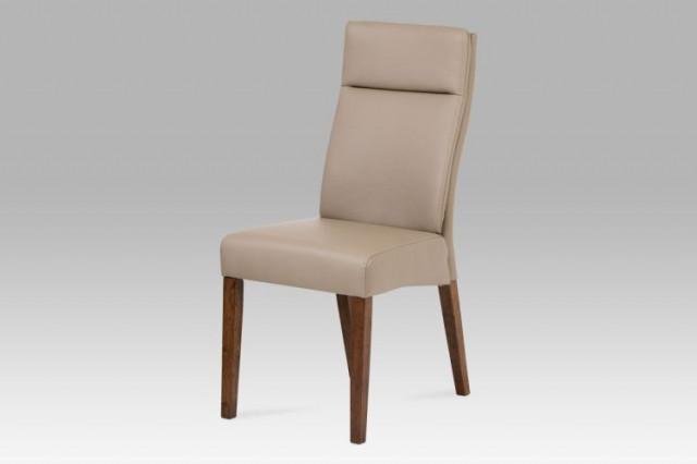 Jídelní židle BE22 - koženka cappucino / ořech