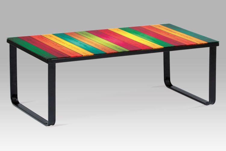 """Autronic Konferenční stolek s potiskem CT-1011 DUH - """"duha"""""""