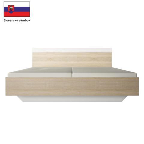Manželská postel GABRIELA 180x200 - dub sonoma / bílá
