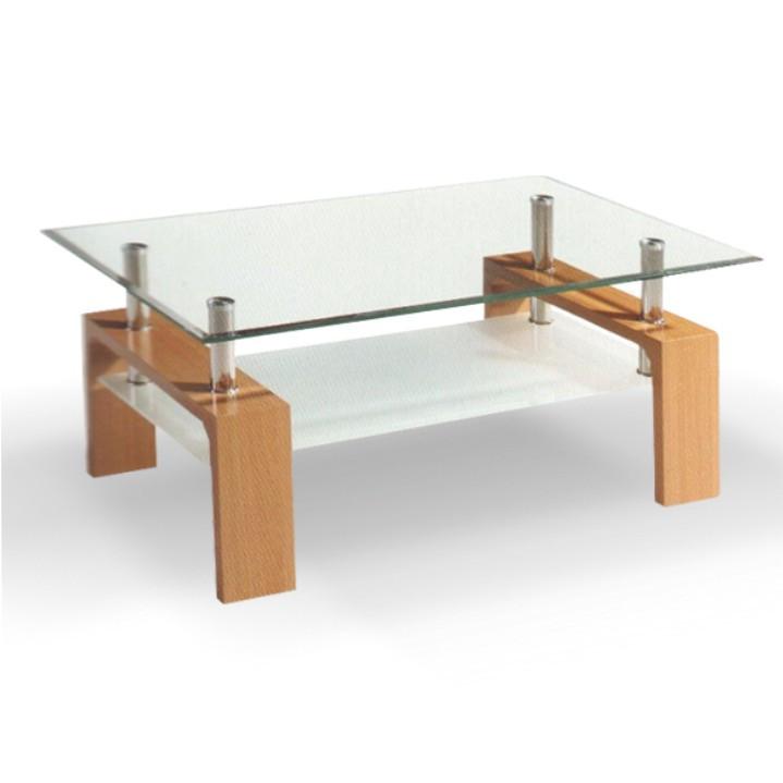 Tempo Kondela Konferenční stolek LIBOR - sklo/buk