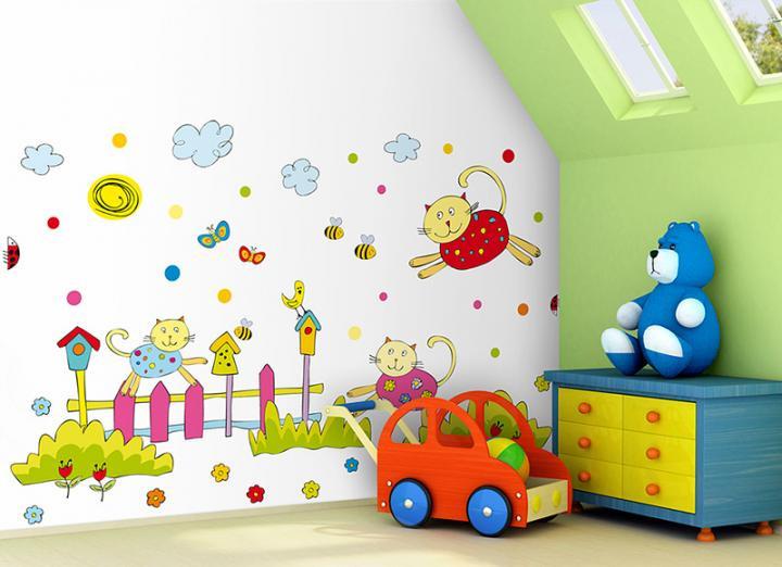 Forclaire Dekorace na zeď Kocouři - 1 m2
