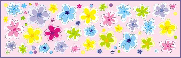 Forclaire Dekorace na zeď Květiny - 0,5 m2