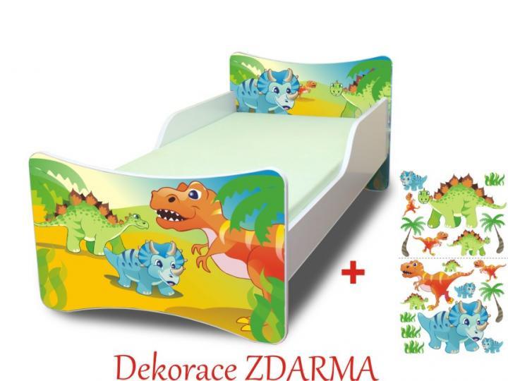Forclaire Dětská postel Dino POUZE úložný prostor pod postel 140x70cm