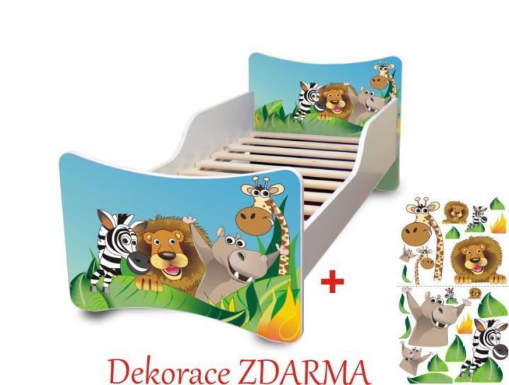 Forclaire Dětská postel Zoo POUZE úložný prostor pod postel 140x70cm