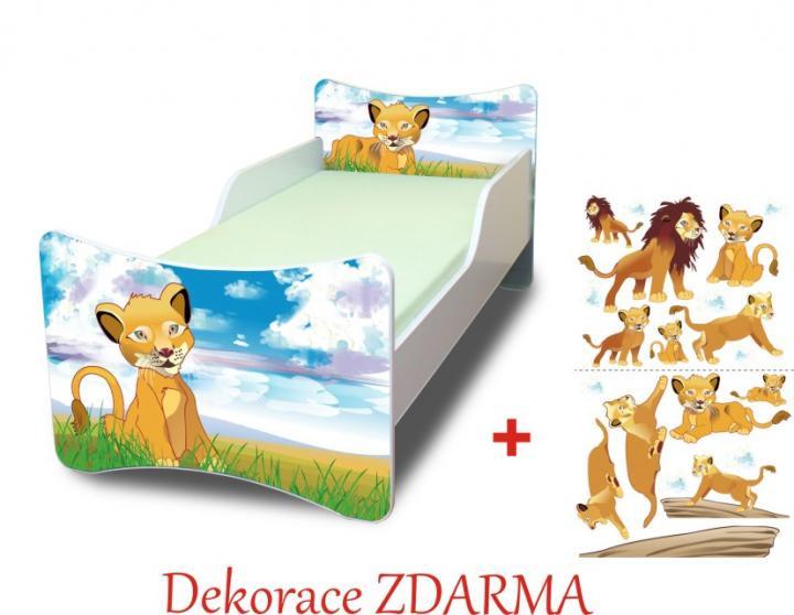 Forclaire Dětská postel Lvíček bez úložného prostoru140x70cm