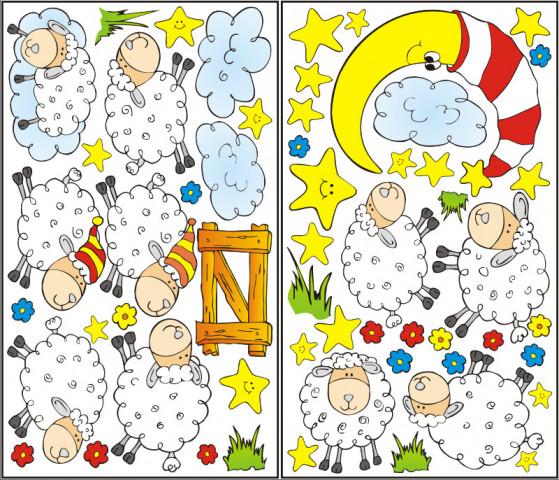 Samolepící dekorace Ovečky