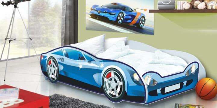 Forclaire Dětská postel Auto Speedy červený model