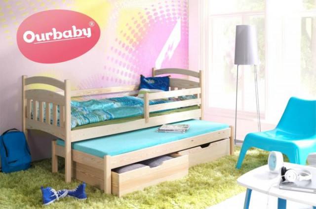 Dětská postel Ourbaby s přistýlkou Marco I