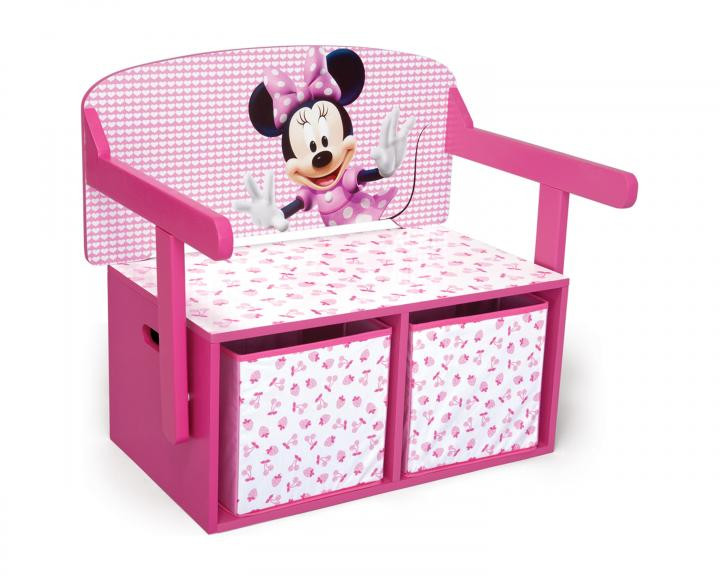 Forclaire Dětská lavice s úložným prostorem Myška Minnie