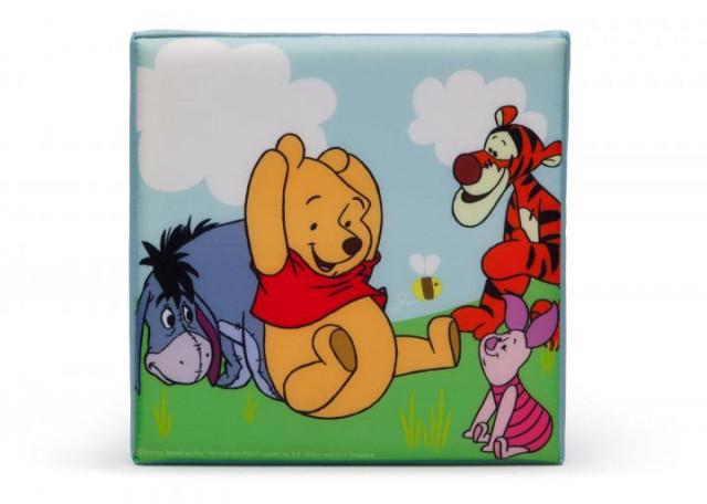 Dětský taburet s úložným prostorem Medvídek Pú