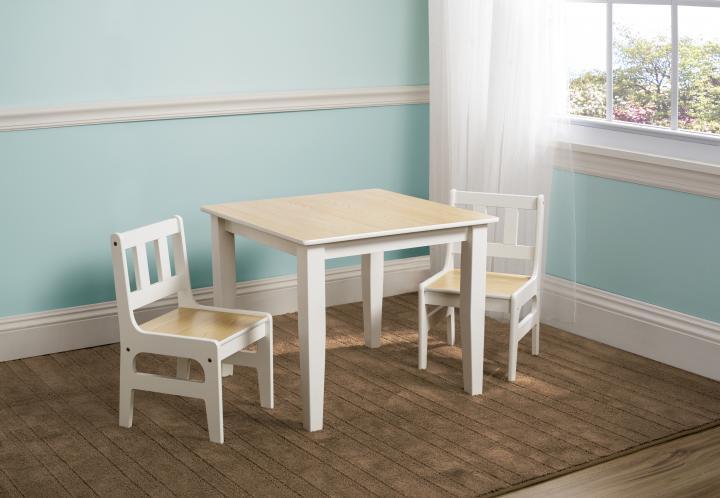 Forclaire Dětský stůl s židlemi natural