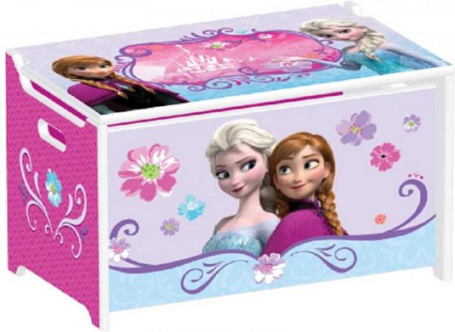 Dětská dřevěná truhla na hračky Frozen