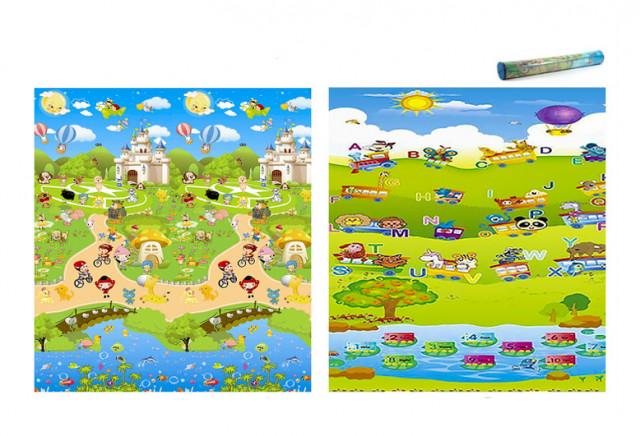 Dětský pěnový koberec - vlak + pohádkové městečko