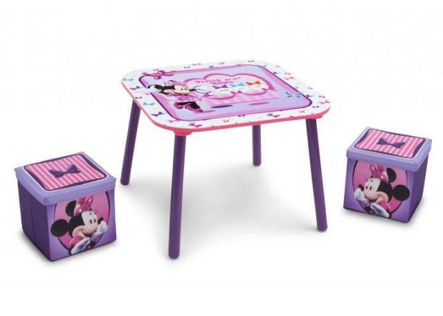 Dětský stůl s taburety Minnie