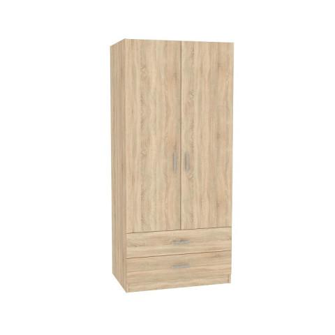 Skříň INVITA dvoudveřová se zásuvkami - dub sonoma