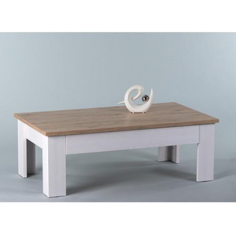 Konferenční stolek, bílá / dub san remo, PROVENSAL