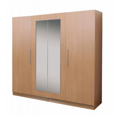 Věšáková skříň, bílo/fialová, MALIBA 400080