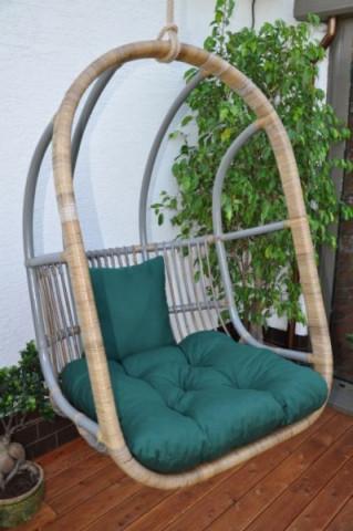 Závěsná houpačka Cortillard - polstr zelený dralon