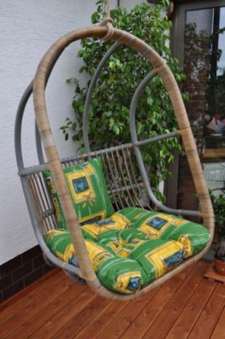 Závěsná houpačka Cortillard - polstr zelený