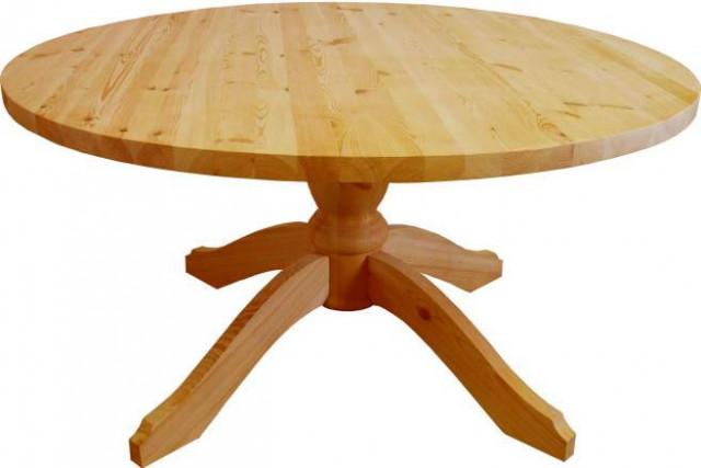 Stůl dřevěný 00444 kulatý