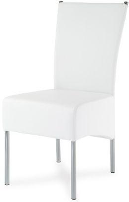 Autronic Jídelní židle HC-040 WT - Chrom / koženka bílá