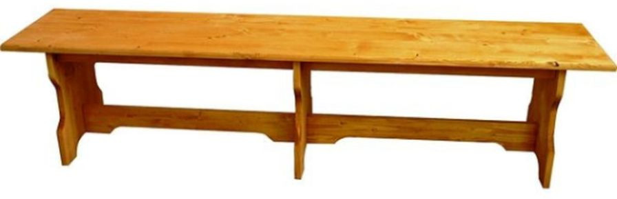 Dřevěná lavice bez opěradla 00533