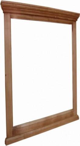 Zrcadlo s dřevěným rámem 00933