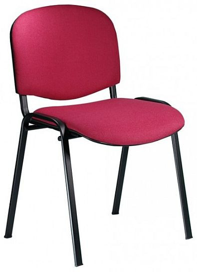 Konferenční židle Iso čalouněná - Suedine 109/černá kostra