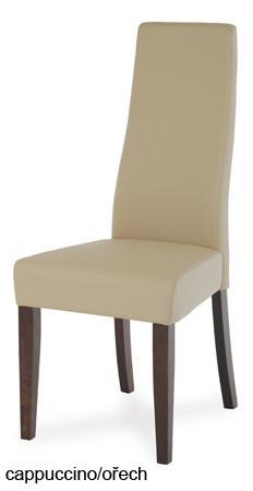 Jídelní židle BE21, cappuccino/ořech