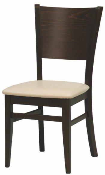 Jídelní židle Comfort koženka Maracaibo crema/buk - II. jakost