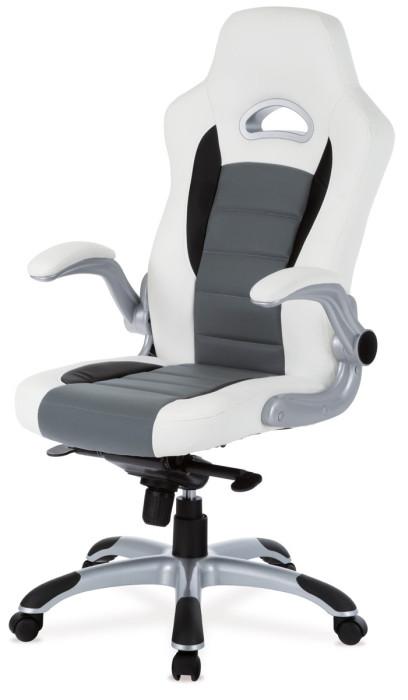 Autronic Kancelářská židle KA-E240B RED - černá/červená